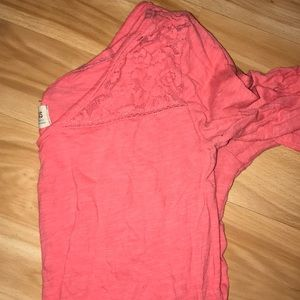 Hollister top that's pink with lace top